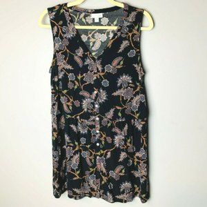 J. Jill Tunic Top Size Medium Sleeveless Button Up